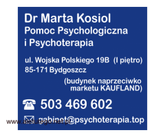 Dr Marta Kosiol Pomoc Psychologiczna i Psychoterapia